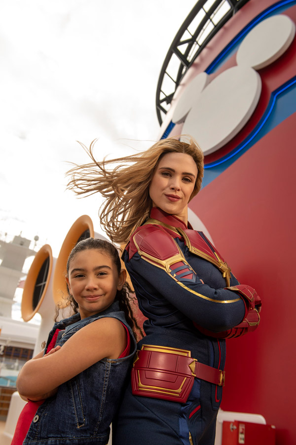 Captain Marvel joins Marvel Day at Sea