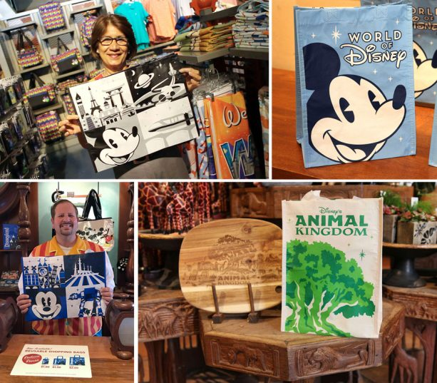 Reusable shopping bags at Walt Disney World Resort