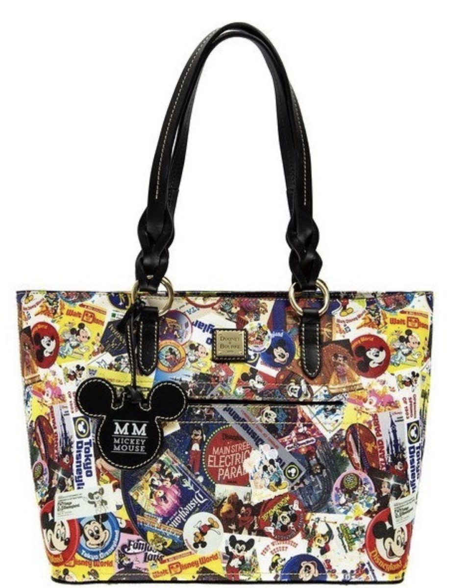 Sneak peek of New Dooney and Bourke Mickey Collage Through The Years Bags #disneystyle 46
