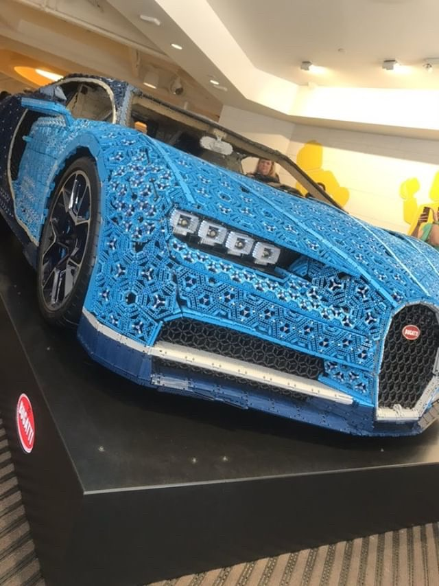 LEGO built Bugatti life size car at Disney Springs NOW! 1