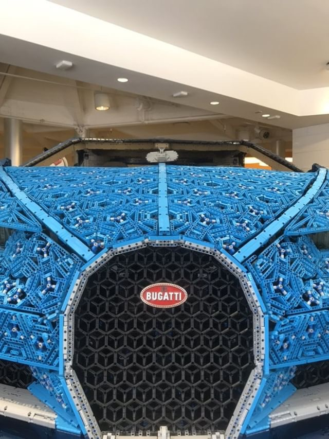 LEGO built Bugatti life size car at Disney Springs NOW! 3