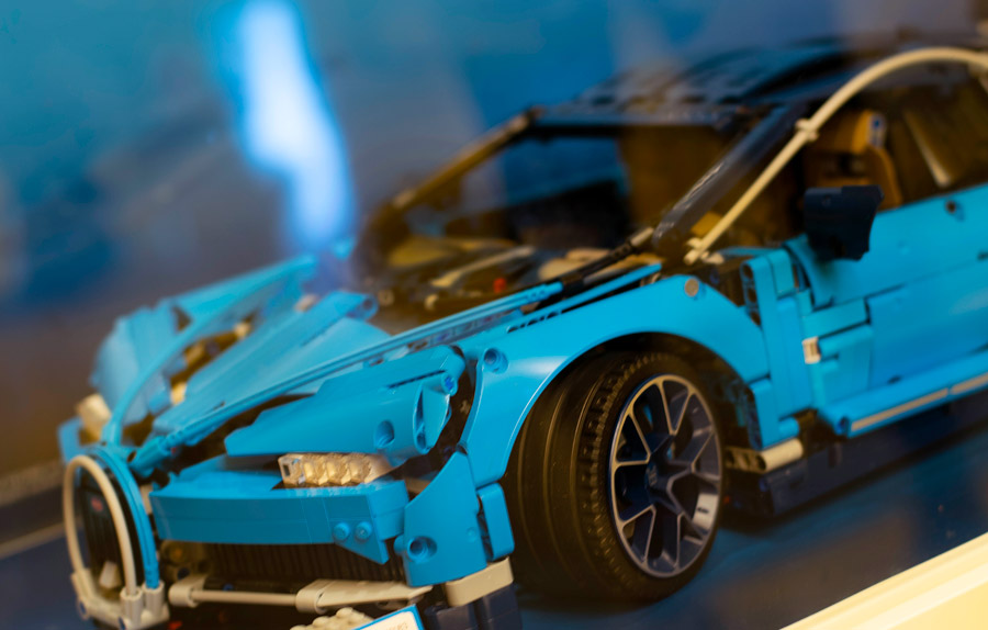 Lego car at The LEGO Store at Disney Springs