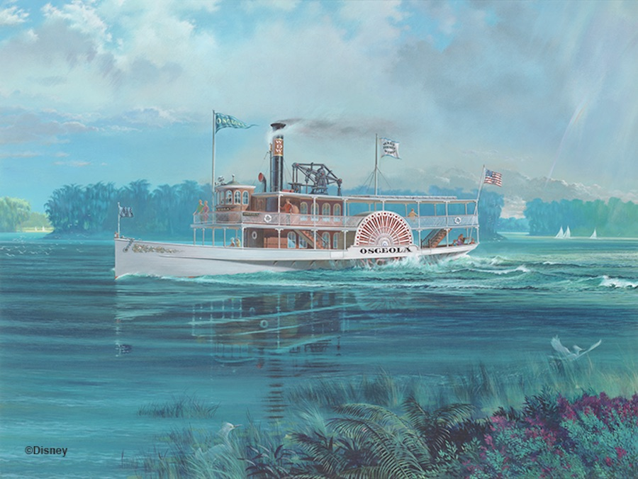 The Imagineering concept art for the Osceola Class Water Craft, c. 1968. © Disney