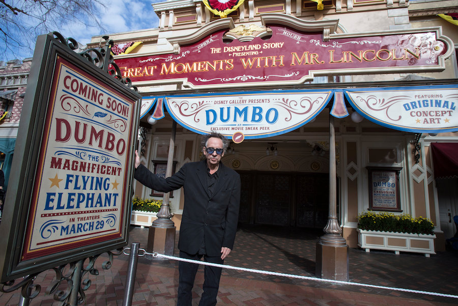 Director Tim Burton Surprises Disneyland Park Guests During a Sneak Peek of 'Dumbo' 1