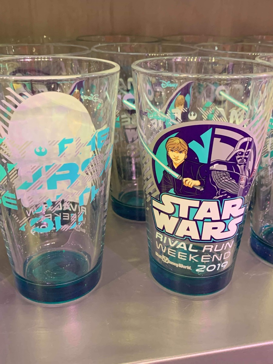 Merchandise from the 2019 Star Wars Rival Run Weekend 6
