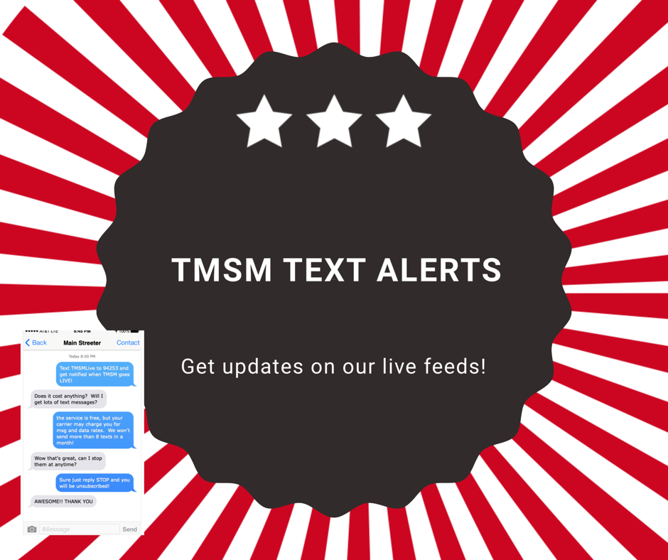 TMSM Text Alerts for Live Feeds! 1