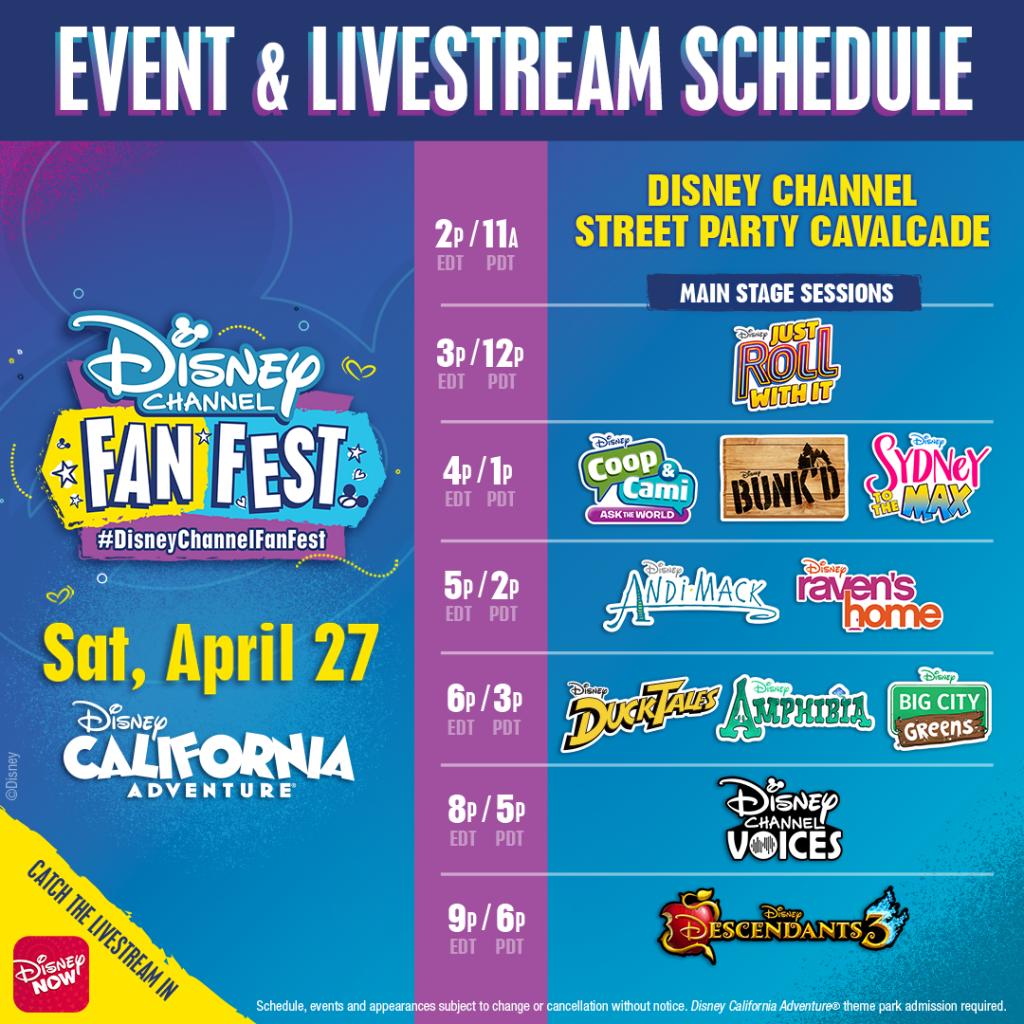 Watch DisneyNOW Live Stream of Disney Channel Fan Fest on April 27 – Your Favorite Stars Live From Disneyland Resort 1