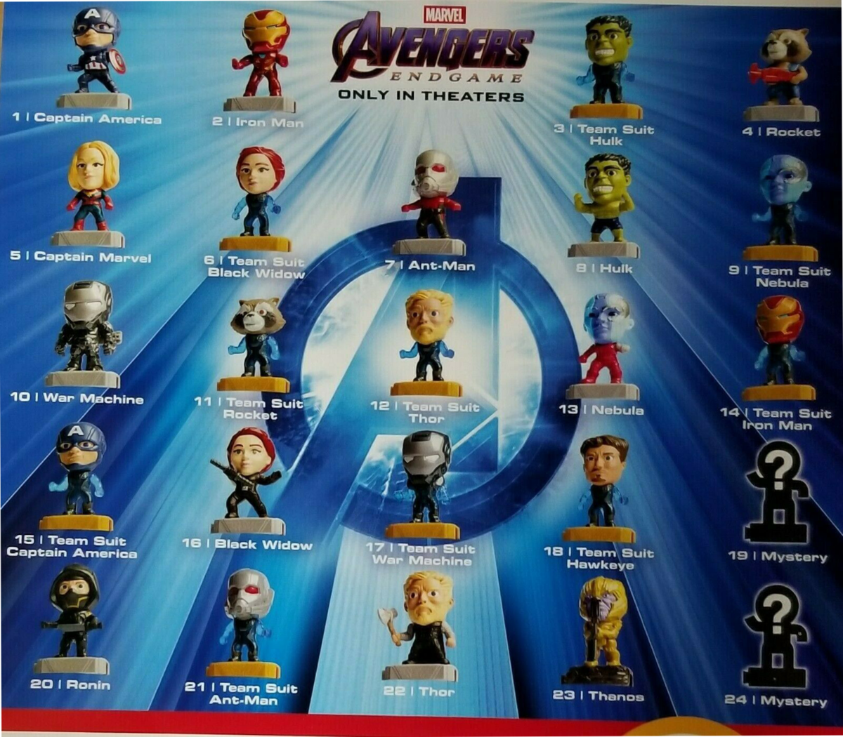 Marvel's Endgame Toys At McDonald's 3