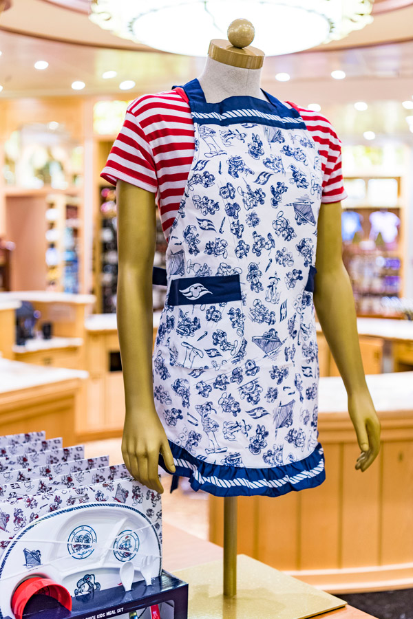Apron from the Animator's Palate merchandise collection aboard Disney Cruise Line ships