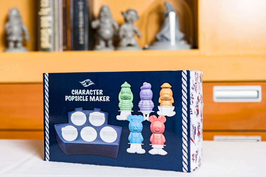 Character Popsicle Maker set from the Animator's Palate merchandise collection aboard Disney Cruise Line ships