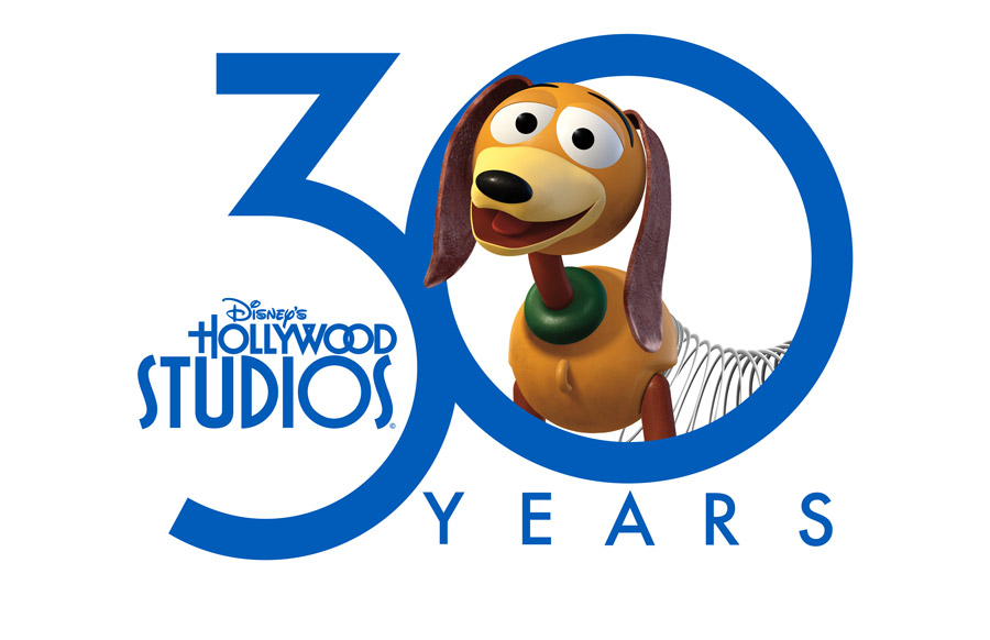 Disney's Hollywood Studios 30th Anniversary logo with Slinky Dog