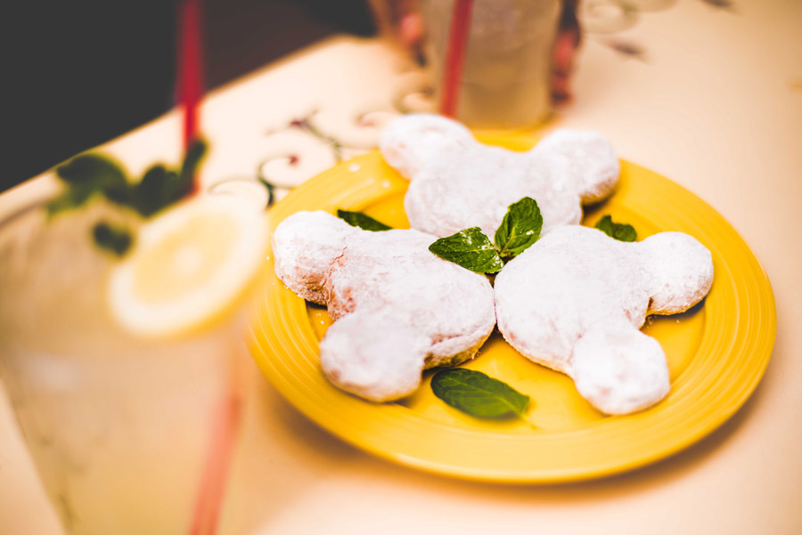 Mickey-shaped Beignets and Mint Juleps from Mint Julep Bar at Disneyland Park