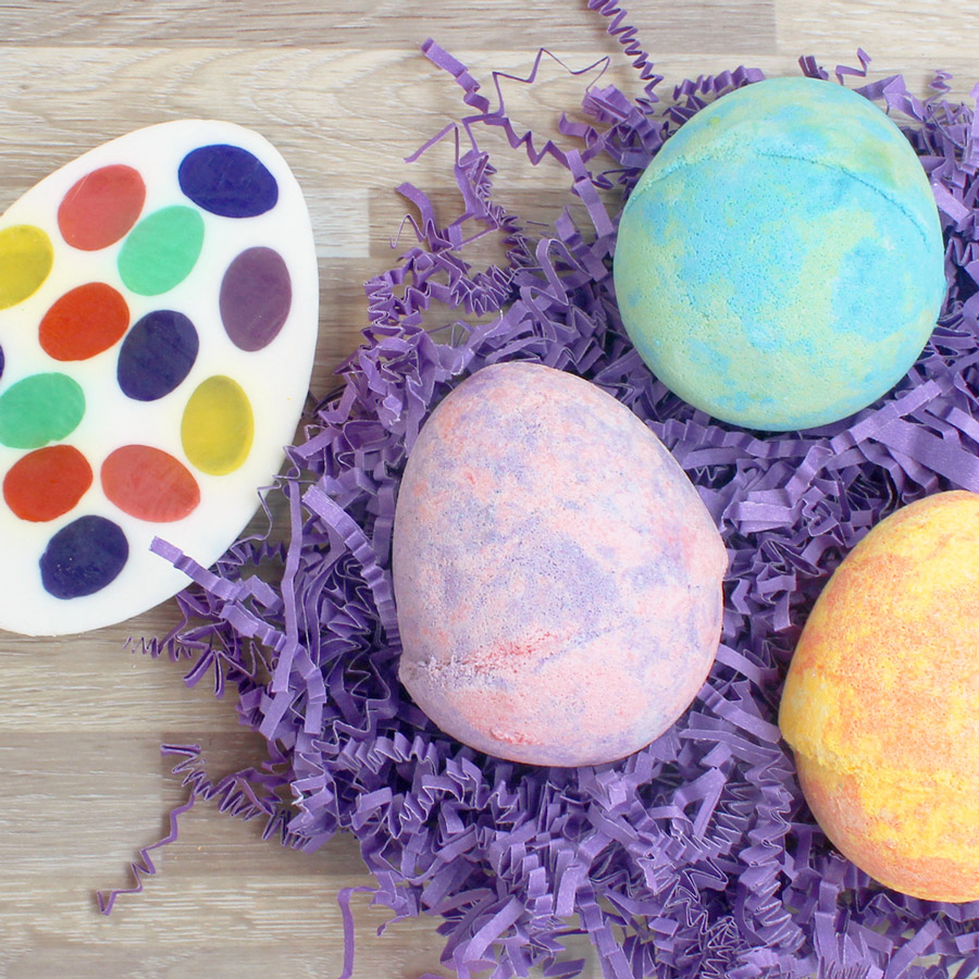 Easter egg bath bombs and fresh cut soaps from Basin at Disney Springs
