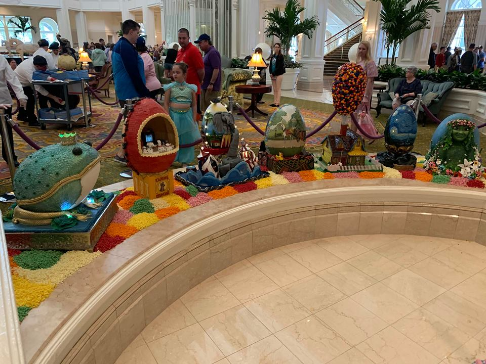 The Chocolate Easter Egg Display is Out Now at Disney's Grand Floridian Resort! 2