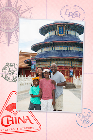 Disney PhotoPass Magic Shot Each country in World Showcase