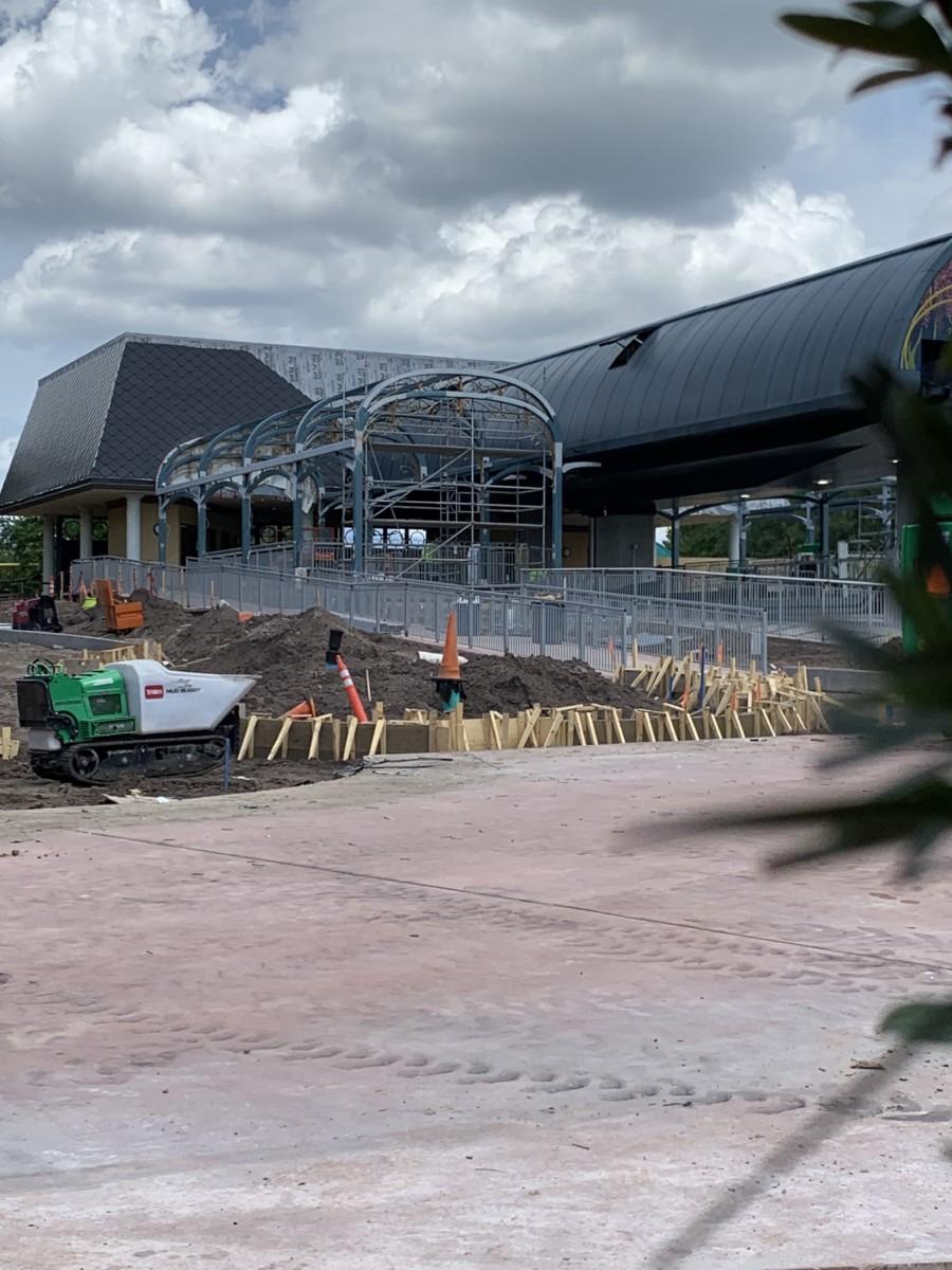 Construction Update at Epcot~International Gateway 5