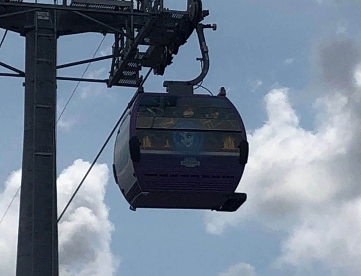 See the Disney Skyliner Gondolas Uncovered with Characters on them! 5