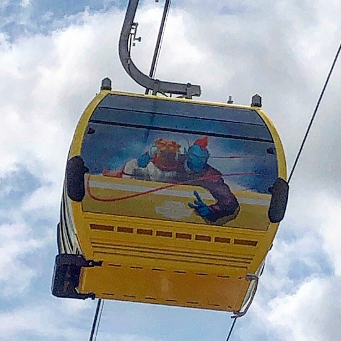 See the Disney Skyliner Gondolas Uncovered with Characters on them! 2