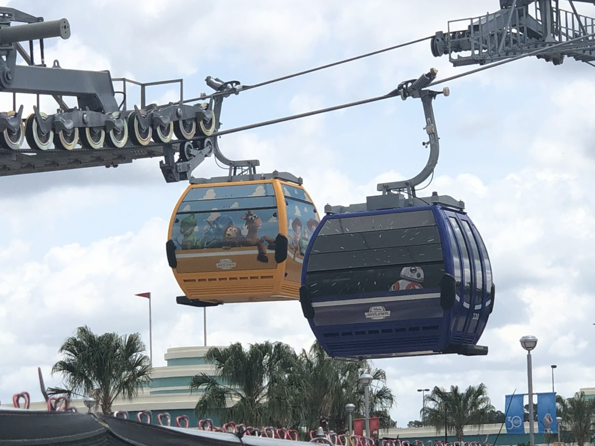 See the Disney Skyliner Gondolas Uncovered with Characters on them! 3