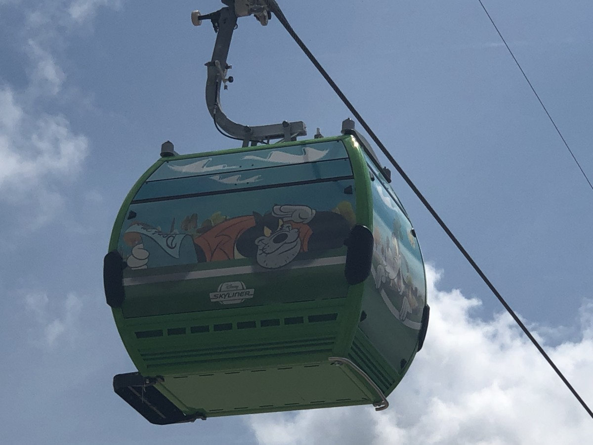 See the Disney Skyliner Gondolas Uncovered with Characters on them! 4