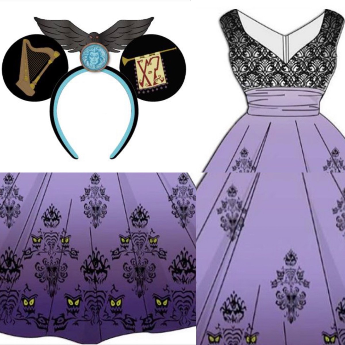 Come Out To Socialize In The 50th Anniversary Haunted Mansion Dress and Hauntingly Magnificent Ears 1