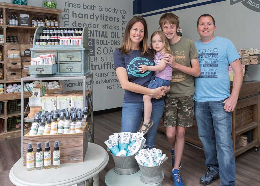 Heather Swanepoel and Family, Rinse Bath & Body Co. at Downtown Disney District at the Disneyland Resort.