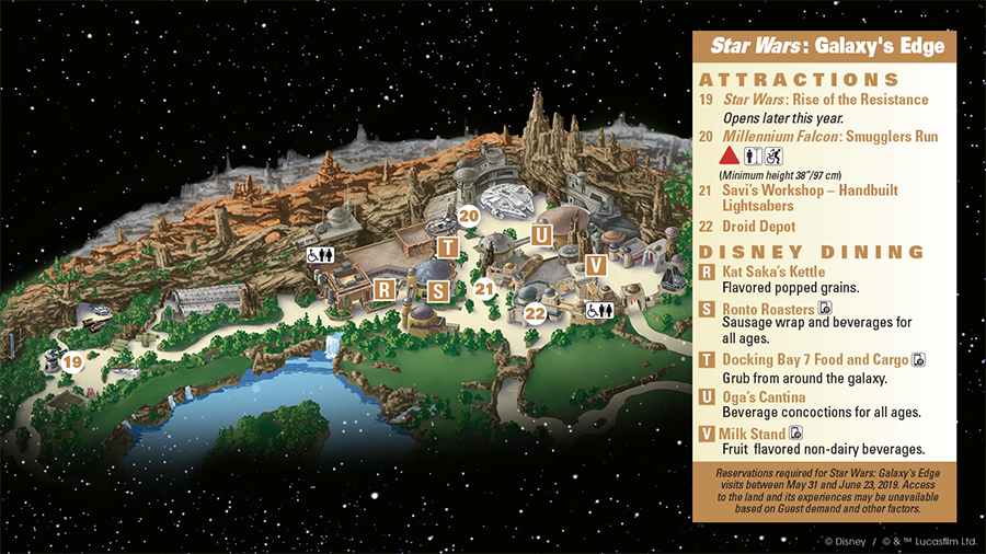 First Look: Guidemap for Star Wars: Galaxy's Edge at Disneyland Park 2