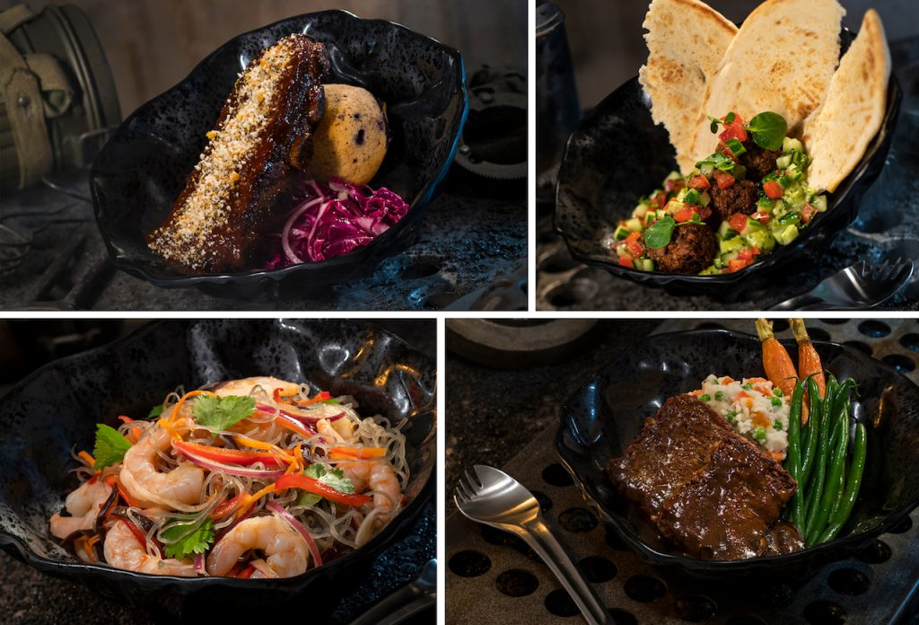 Lunch and Dinner Entrées from Docking Bay 7 Food and Cargo at Star Wars: Galaxy's Edge