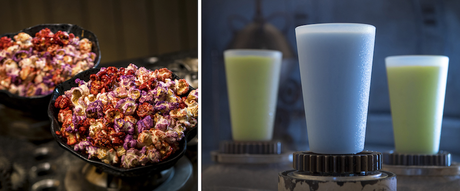 Outpost Mix and Blue and Green Milk from the Black Spire Outpost Market at Star Wars: Galaxy's Edge