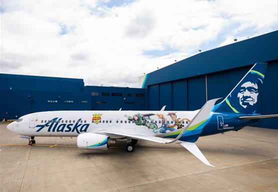 "Alaska Airlines gets animated with themed aircraft featuring artwork from Disney and Pixar's ""Toy Story 4"" 1"