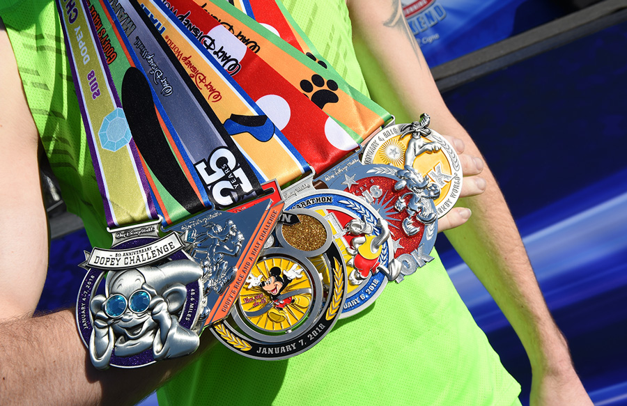 Medals at Walt Disney World Marathon Weekend