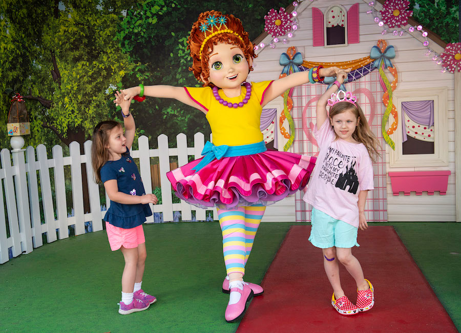 Guests say bonjour to Fancy Nancy at the all-new character greeting location in the Animation Courtyard at Disney's Hollywood Studios