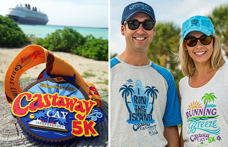 Castaway Cay 5k Medal and Merchandise