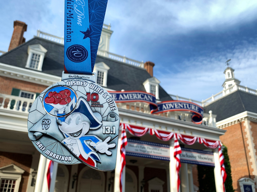 runDisney Medal Reveal: Celebrating 10 Years of the Disney Wine & Dine Half Marathon Weekend 4