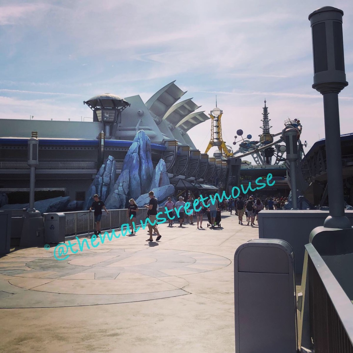 The Tomorrowland Sign is Gone at Magic Kingdom 4