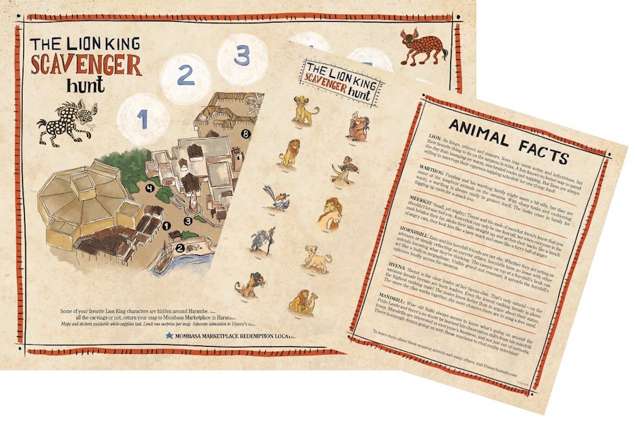 "new scavenger hunt in Africa themed to ""The Lion King"""