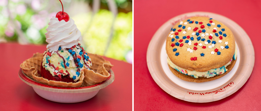 Specialty Items from Plaza Ice Cream Parlor at Magic Kingdom Park