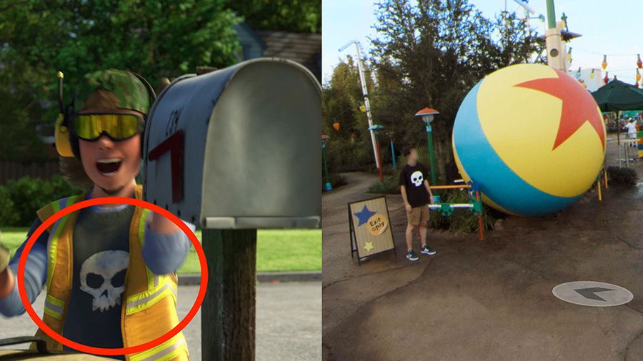 Pixar Easter Eggs Hidden in Google Street View Imagery of Toy Story Land at Disney's Hollywood Studios 1