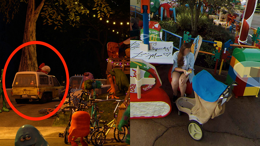 Pixar Easter Eggs Hidden in Google Street View Imagery of Toy Story Land at Disney's Hollywood Studios 3