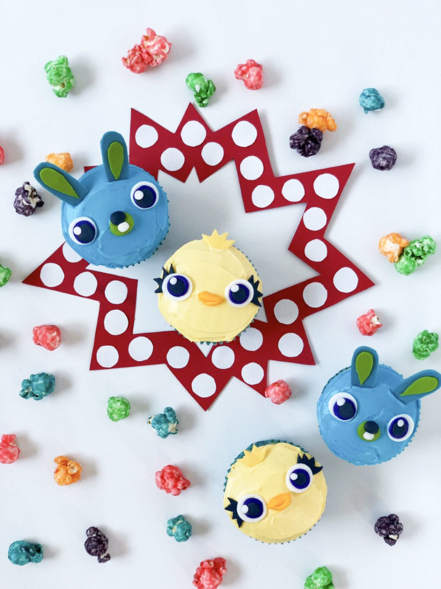 Make Your Own Ducky and Bunny Cupcakes! #ToyStory4 20