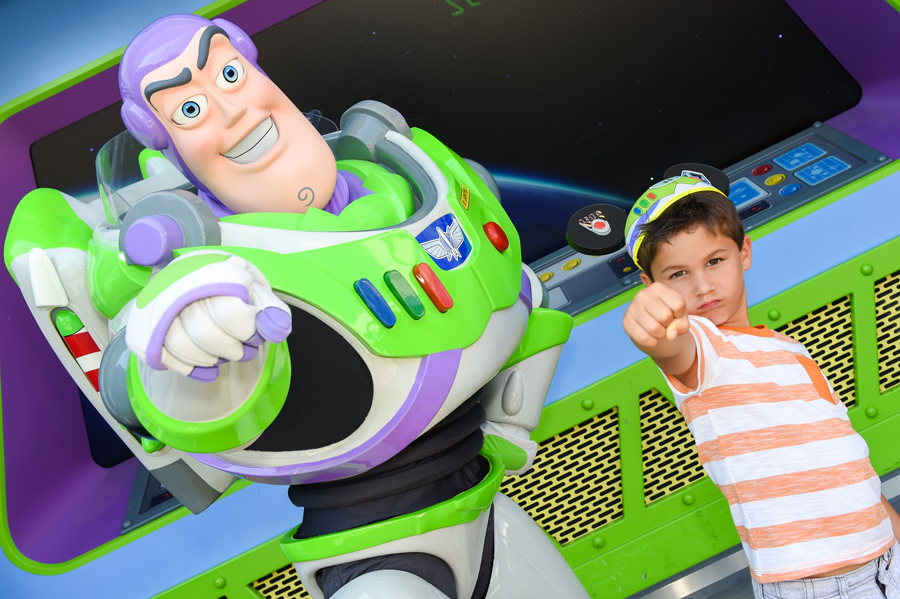 Meeting Buzz Lightyear at Magic Kingdom Park
