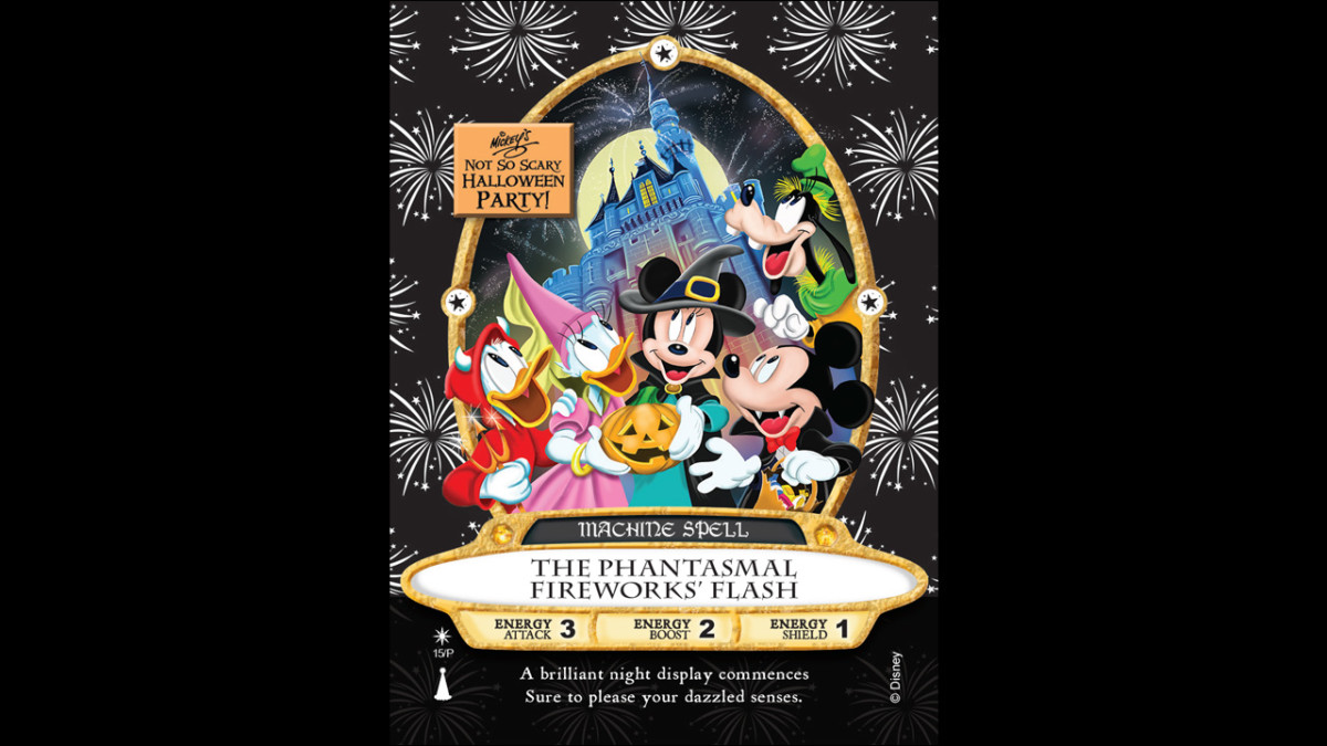 Sneak a Peek at 'The Phantasmal Fireworks' Flash' Sorcerers of the Magic Kingdom Card 1