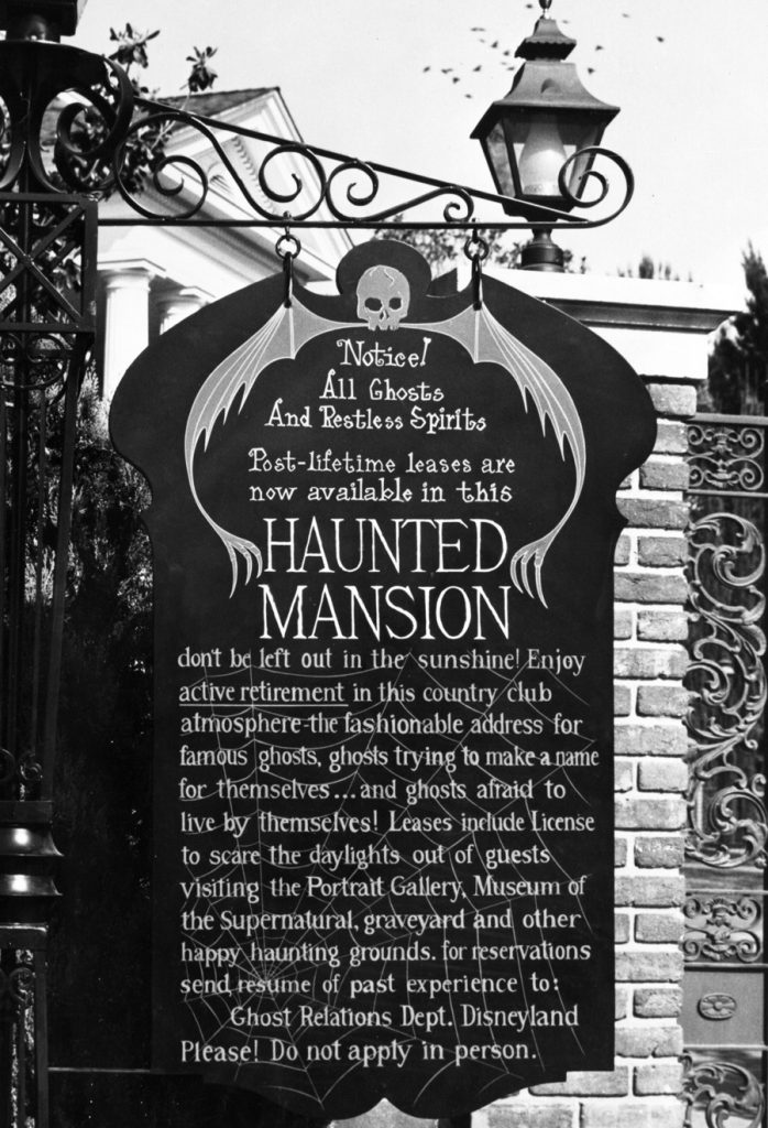 Haunted Mansion sign