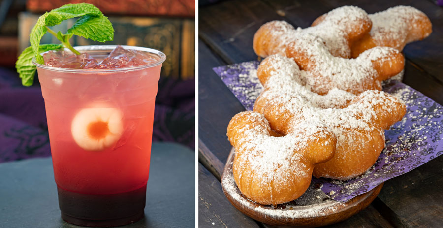"Blackberry Midnight Julep and ""Honey…I Do"" Beignets from Mint Julep Bar at Disneyland Park"