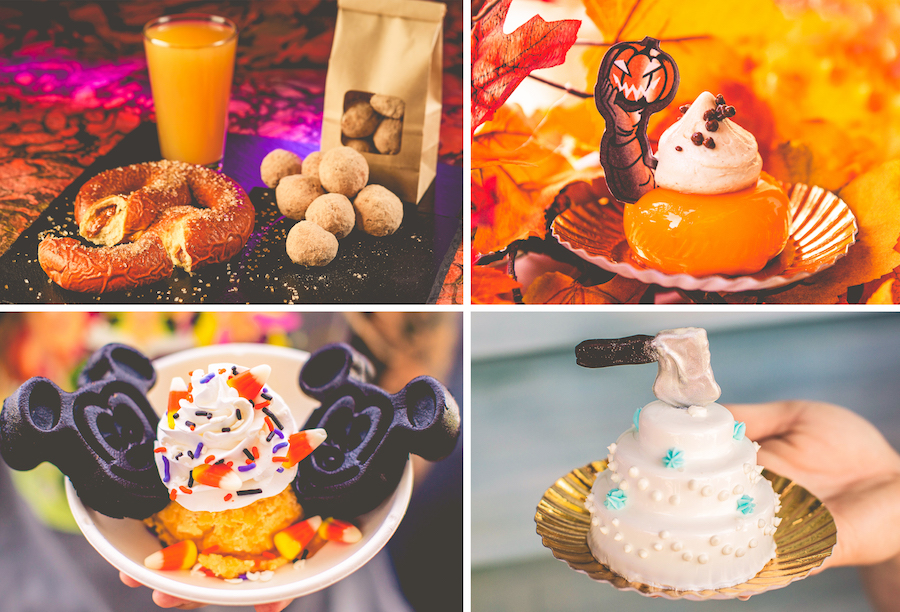 Offerings from Golden Oak Outpost and Sleepy Hollow for Mickey's Not-So-Scary Halloween Party at Magic Kingdom Park