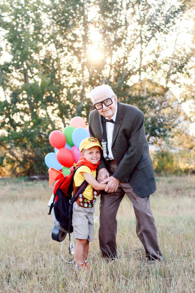 5-year-old boy's 'Up'-themed photoshoot with great-grandparents goes viral! 1