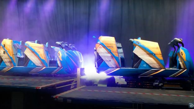 Take a First Look at the Guardians of the Galaxy: Cosmic Rewind Ride Vehicles 3