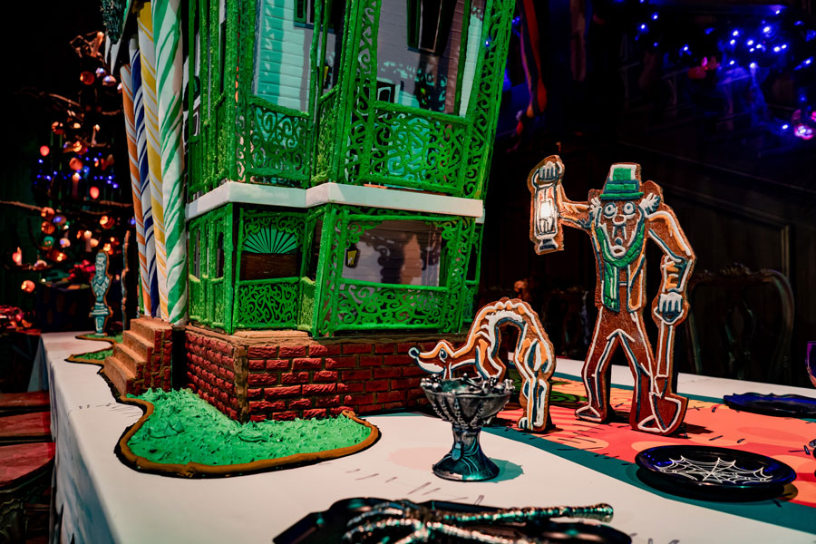 First Look: 2019 Haunted Mansion Holiday 50th Anniversary Gingerbread House at Disneyland Park 2