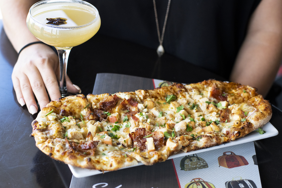 Grilled Chicken and Apple Flatbread from Splitsville for WonderFall Flavors at Disney Springs 2019