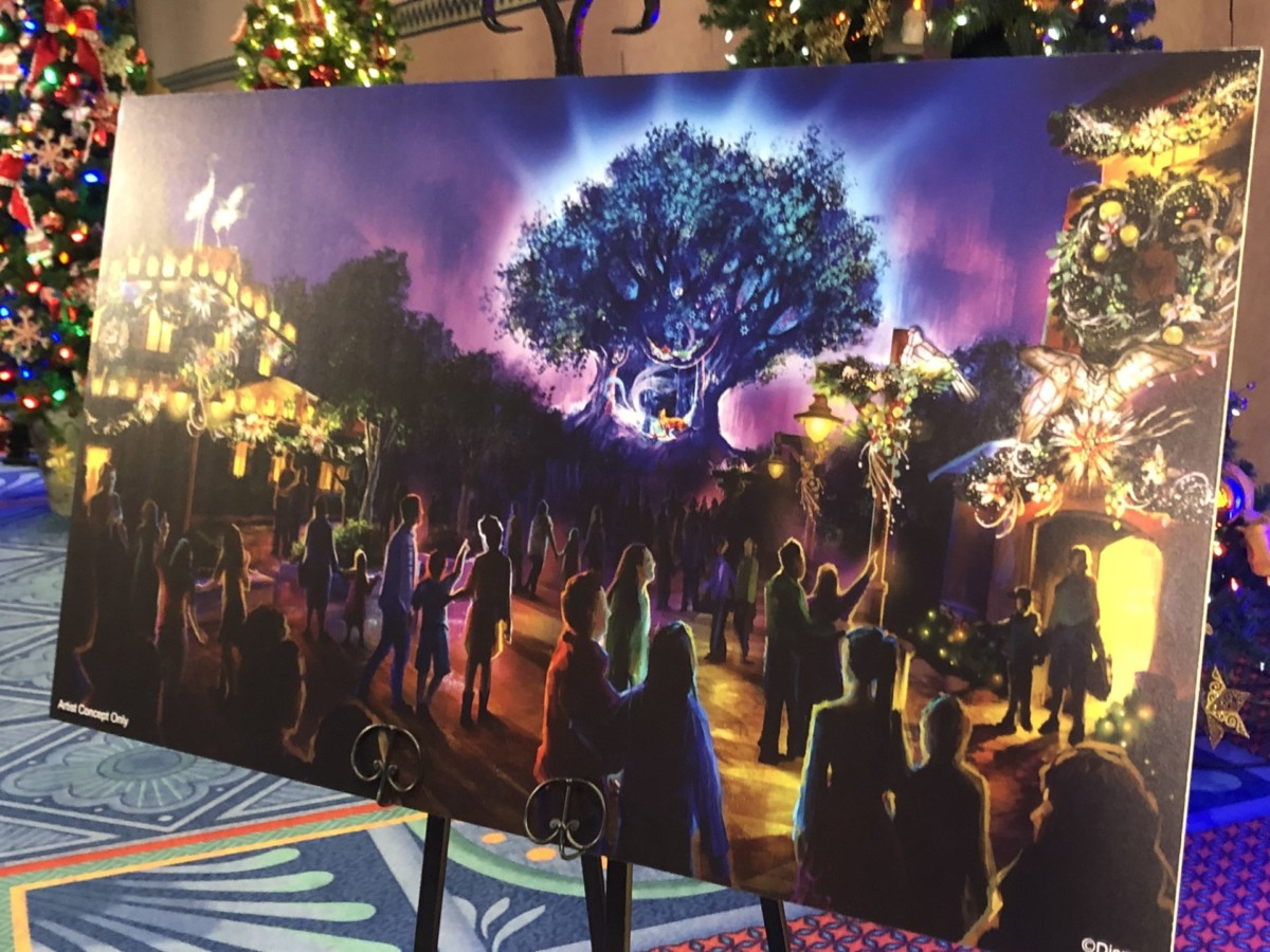Sneak a Peek at New Holiday Decor Planned for Disney's Animal Kingdom This Season 2